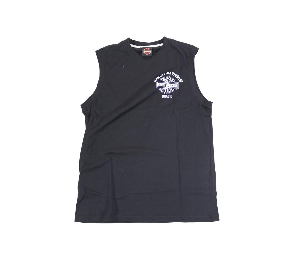 1179a96122 Camiseta Regata c  Gráfico Impresso Frontal