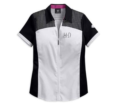 Camisa Manga Curta com Ziper   Harley Davidson